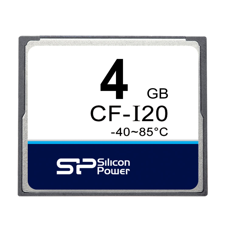 Silicon Power (Industrial Grade) 4GB SLC CompactFlash Card CF-I20 (SP004GBCFI000W601T) by Silicon Power