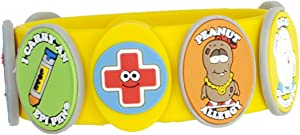 Food Allergy Bracelets for Kids – Bright, Fun Medical Charm Kit: Yellow Silicone Bracelet, Multiple Food Allergy Charms: Peanut, Nut, Dairy, Egg, Wheat & Epi Pen Charm, Medical Alert Bracelet for Kids