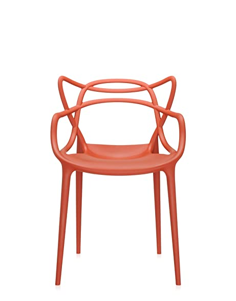 Kartell Masters Chair, Pack Of 2, Rusty Orange