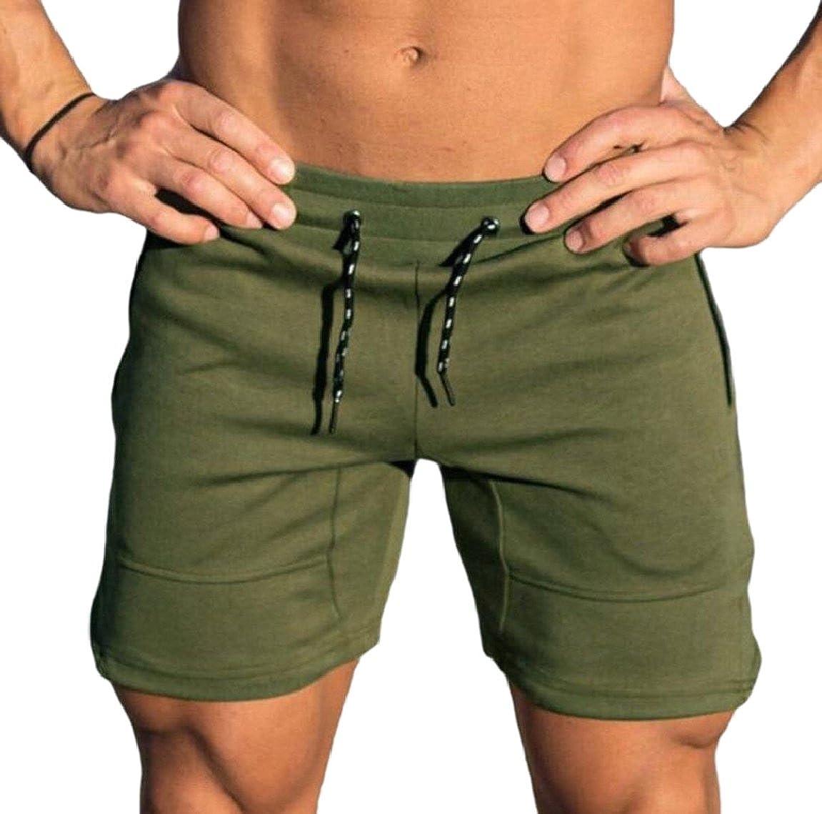 pujingge-CA Men Gym Workout Shorts Weightlifting Squatting Shorts