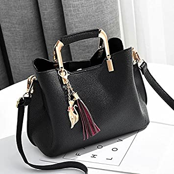 dc24d47806 MDRW-Sac A Main Femme Ambiance Mode Hiver Femme All-Match Simple Sac Noir