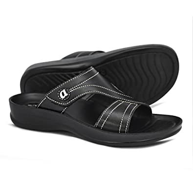 909c7b78c6c895 AEROTHOTIC Orthotic Comfort Midfoot Strap Sandals and Flip Flops with Arch  Support for Comfortable Walk (
