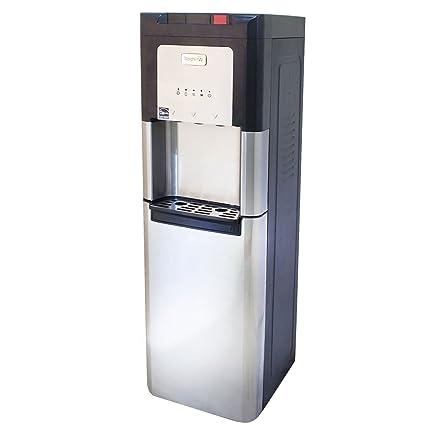 Whirlpool automático para limpieza oculto Botella enfriador de agua, acero inoxidable