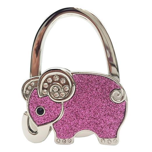 OUNONA Gancho Plegable de Bolso Elefante Monederos Colgador ...