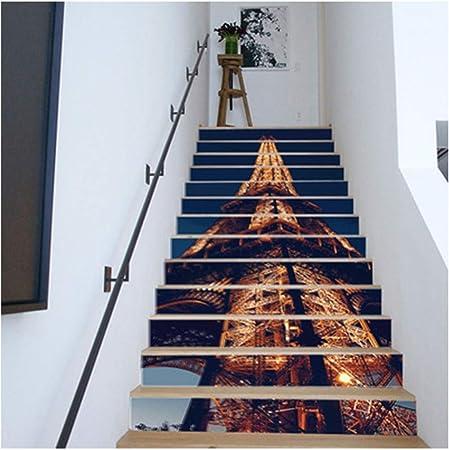 SERFGTFH Escalera Pegatina Autoadhesivo Creativo 3D Moderno Edificio Pared Extraíble para Decoración De Pared como Regalo para Navidad: Amazon.es: Hogar