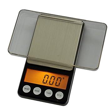 Báscula digital Báscula Balanza de precisión, la precisión de 0,01 g hasta 200 g Pesa. con protección Tapa como waagschale. Oro Full®: Amazon.es: Oficina y ...