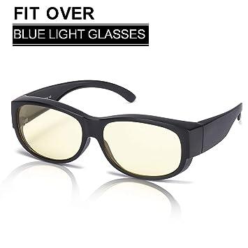 1f49e030da1 Amazon.com  Fitover Blue Light Glasses Filter Eyestrain and Headache ...