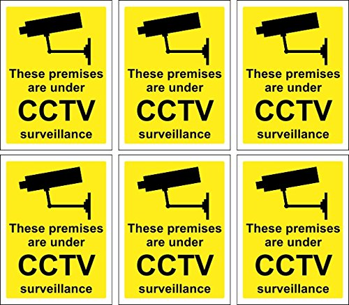 6 x CCTV Signs Self Adhesive 100mm x 75mm Suitable for Outdoor Use WOOTTON INDUSTRIES LIMITED