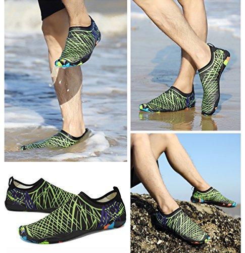 Xylxyl Multifunctional Water Shoes, leichte flexible Quick Dry Aqua Socken für Männer und Frauen Grün