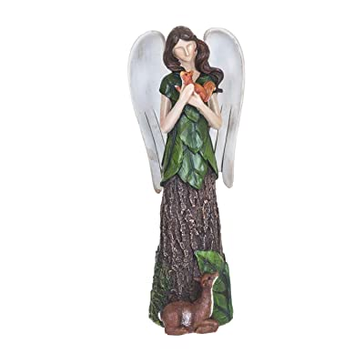 Topadorn Angel Woodland Polystone Garden Outdoor Statue, Squirrel : Garden & Outdoor