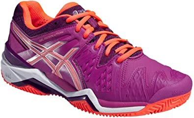 ASICS Damen Tennisschuhe Outdoor Gel Resolution 6 Clay Pink: Amazon ...