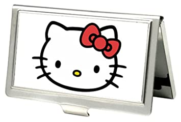 Amazon hello kitty face business card holder office products hello kitty face business card holder reheart