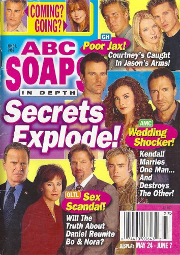 Mark Dobies, One Life to Live, Thorsten Kaye, All My Children, Jill Farren Phelps, Daytime's Most Eligible Bachelors Issue - June 7, 2005 ABC Soaps in Depth Magazine [SOAP OPERA]