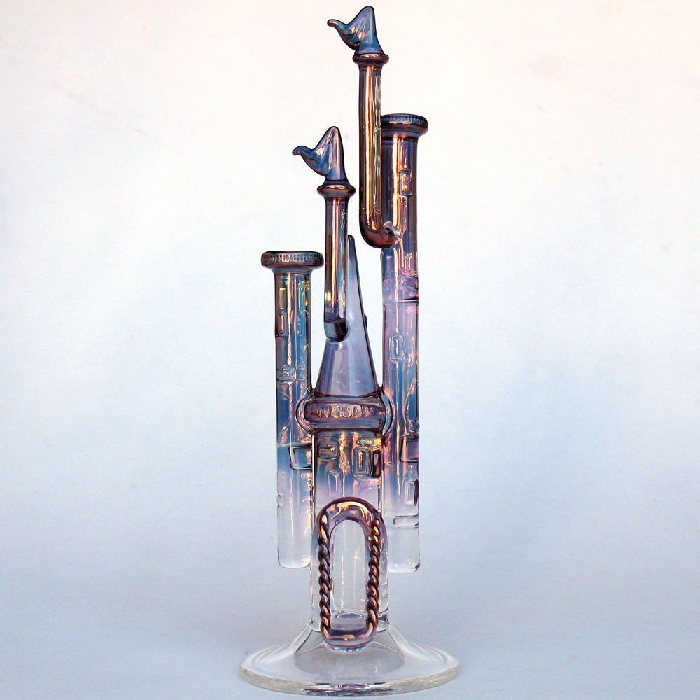 Castle Figurine of Hand Blown Glass