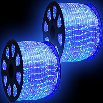 Amazon wyzworks 300 feet blue led rope lights flexible 2 wyzworks 300 feet blue led rope lights flexible 2 wire accent holiday christmas party aloadofball Images