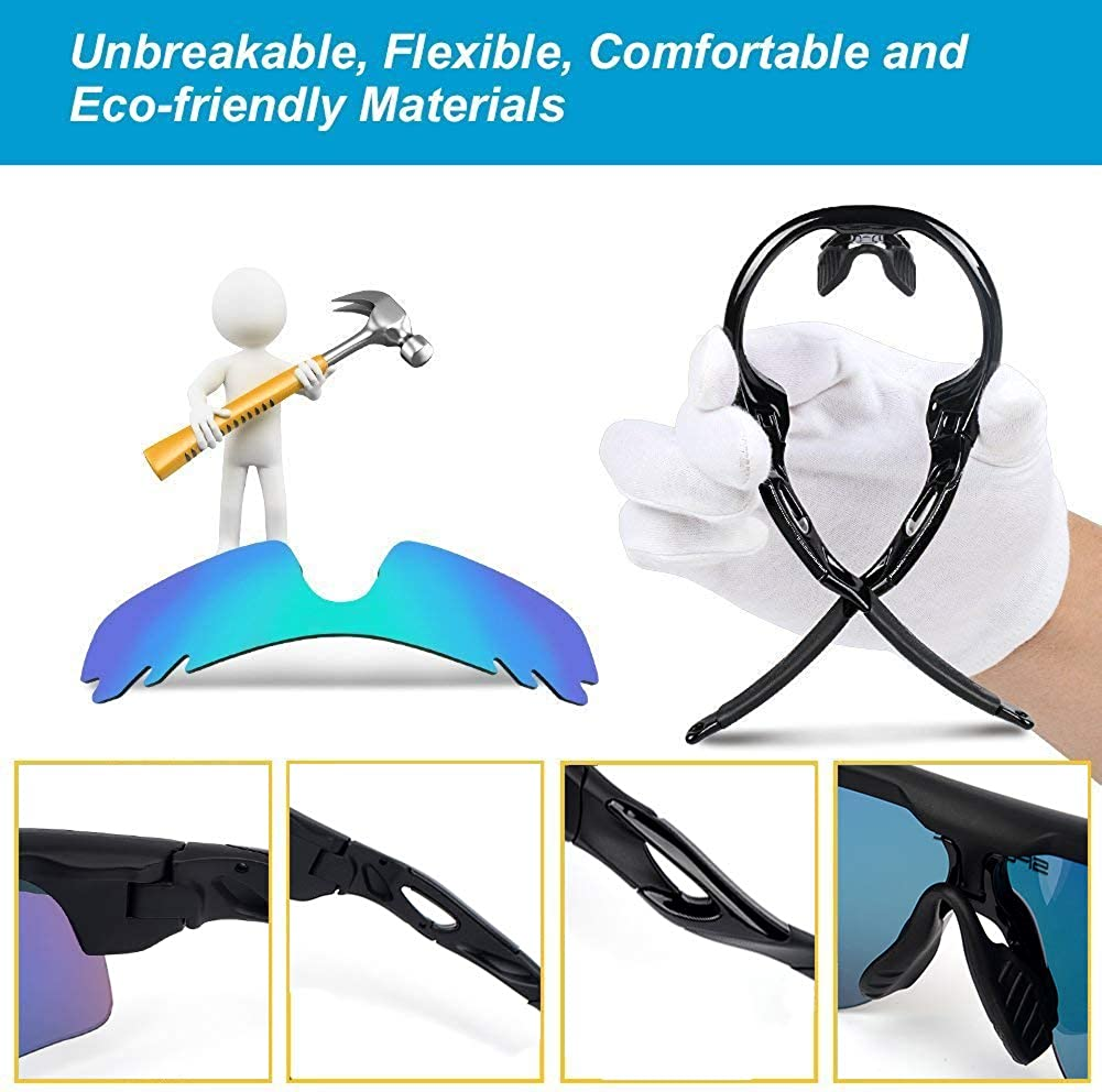 Polarized Sports Sunglasses with 5 Lens for Men Women Cycling Running Baseball