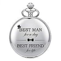 Best Man for Wedding or Proposal - Engraved Best Man Pocket Watch - Wedding