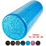Day 1 Fitness High Density Muscle Foam Rollers Sports Massage Rollers for Stretching, Physical Therapy, Deep Tissue and Myofascial Release – for Exercise and Pain Relief – Solid Blue, 18″ Review