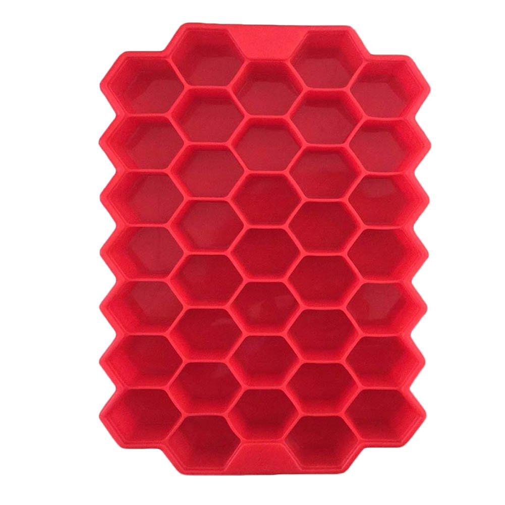 Ice Cream Soft - Color Random 37 Ice Cubes Honeycomb Ice Cream Maker Form Diy Pops Mould Molds Yogurt Ice Box Fridge Ice Cream Tools