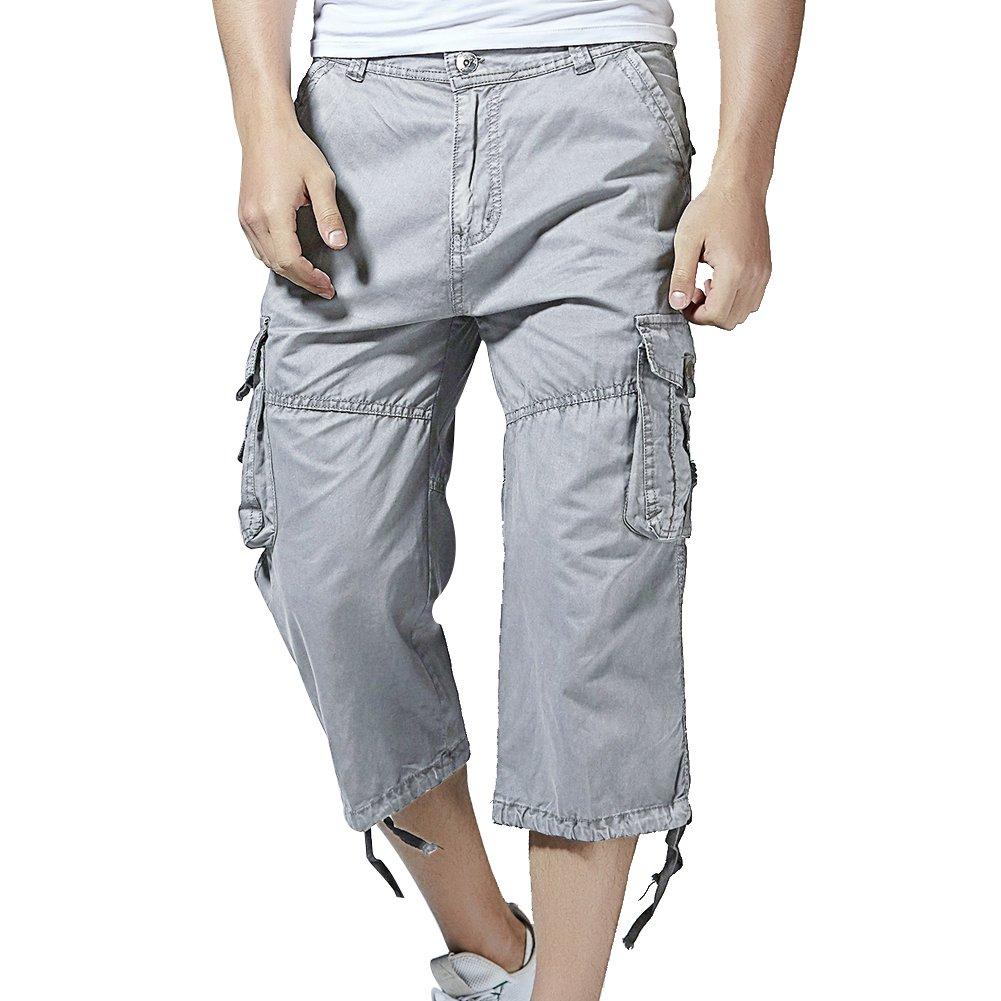 bad847cf60 Top3: PIZZ ANNU Men's Cargo Shorts Casual Combat Knee-Length Capri Outdoor Shorts  Pants