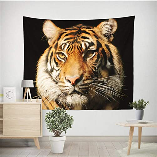 GUOXIN12 Lion Tiger Tapestry, Colorful Animal Tapestry Wall Hanging Lion and Tiger Printed Decoration,Home Decoration FGK48