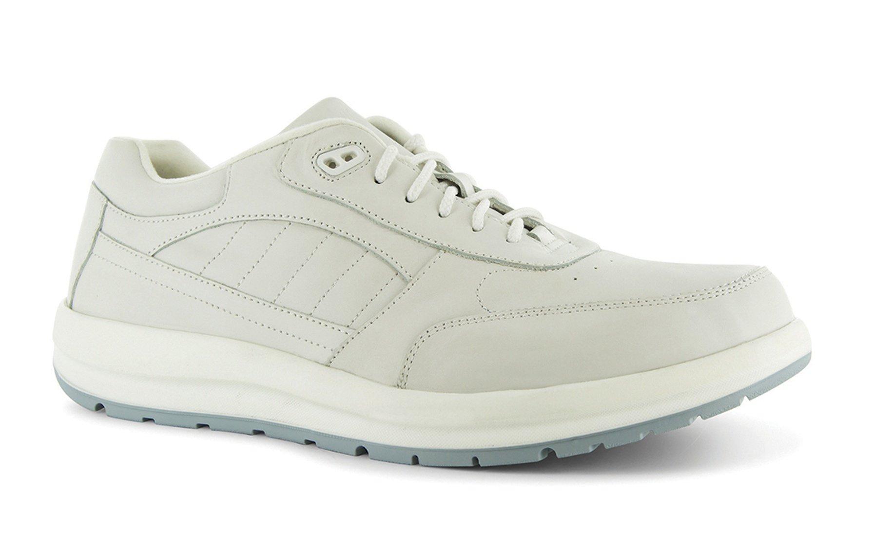 P W Minor Performance Walker Men's Therapeutic Casual Extra Depth Shoe: White 12.5 Medium (D) Lace