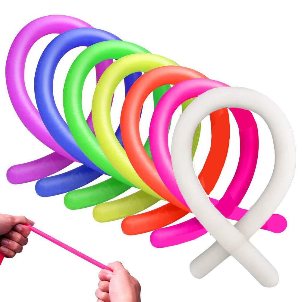 Lwestine 14 Pack Stretchy String Fidget Sensory Toys Colorful Fidget Toys