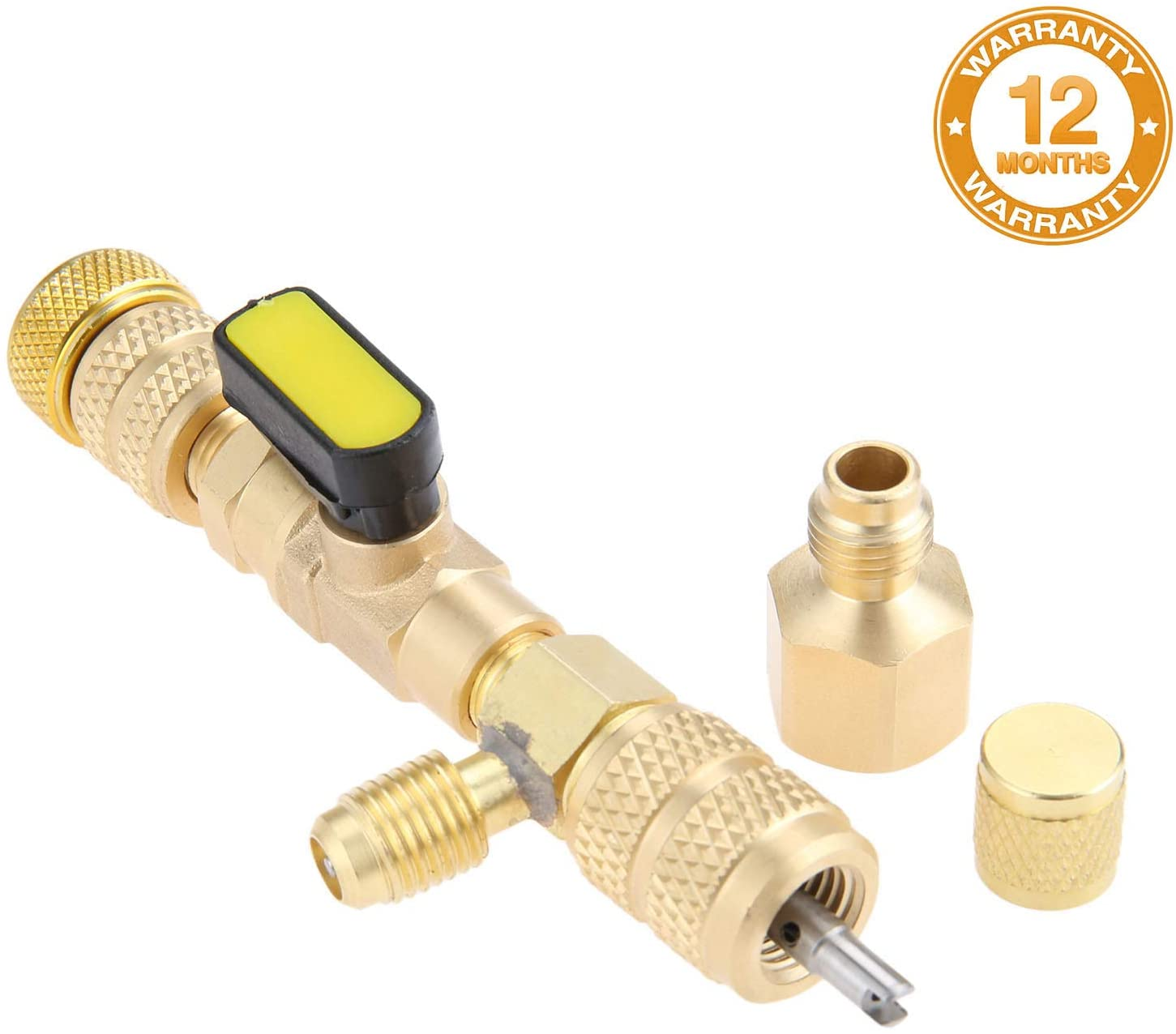 Valve Core Remover/&Installer with Dual Size SAE 1//4/&5//16 Port for R22 R410A I8W7