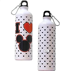 Disney Mickey Heart Aluminum Water Bottle