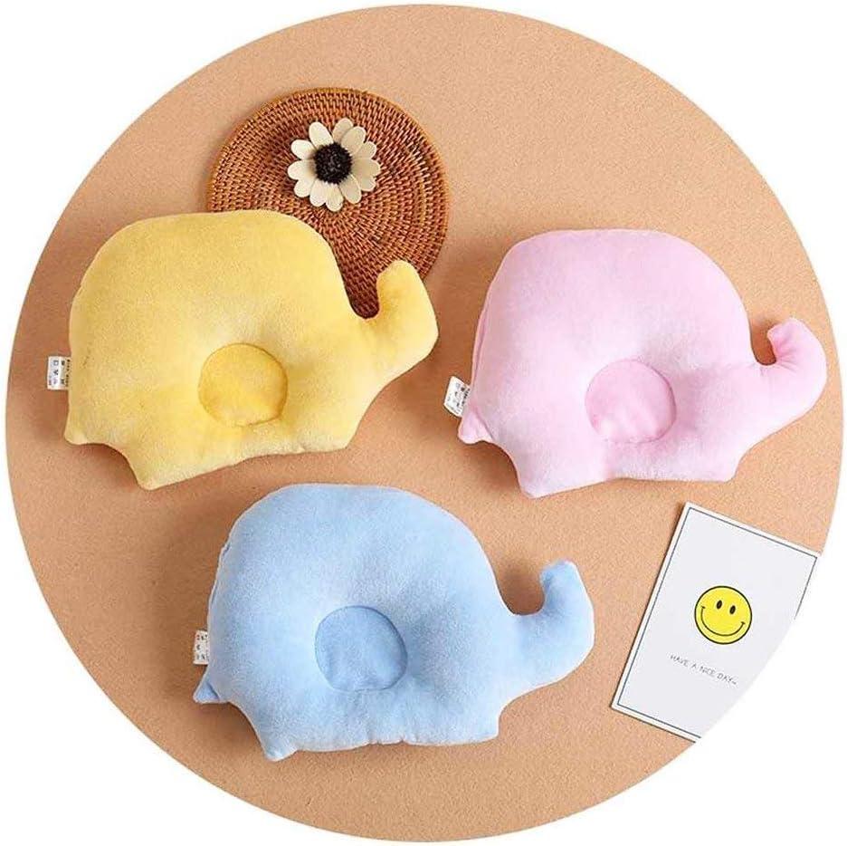 ZZuffig Elephant Neugeborene gegen die Rolle Kissen Baby-Kissen Prevent Flat Head Geschenke Blau 1Pc Mutter und Kind Das Wesentliche