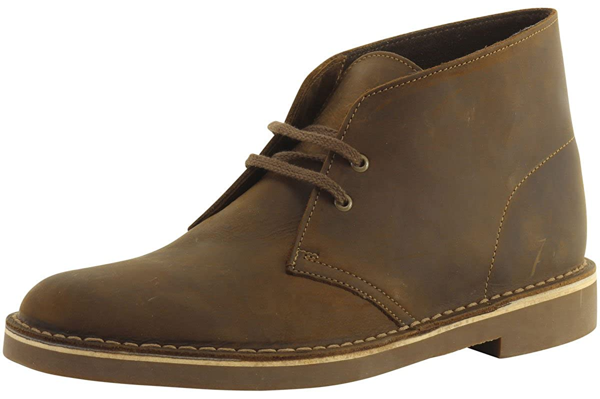 Amazon.com | CLARKS Men's Bushacre 2 Beeswax Leather High-Top Leather Boot  - 11M | Boots