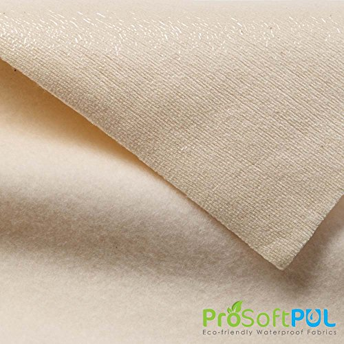 ProSoft Stretch-FIT Organic Cotton Fleece Waterproof 1 mil PUL Fabric (Made in USA, Natural, sold by the yard)