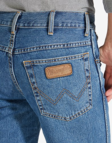Jeans Uomo Blu Stnwash Texas Wrangler Vintage qwBOCH