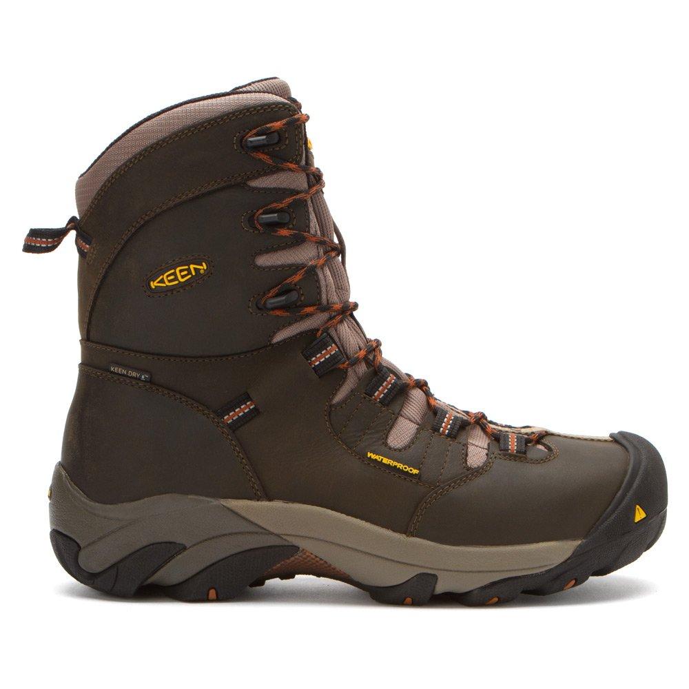 1008313 KEEN Botas de seguridad Detroit 8IN para hombre - Negro oliva - 7.5 \ EE: Amazon.es: Zapatos y complementos