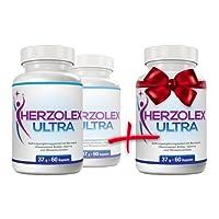 Herzolex Ultra - Diätpille für effektiven Fett- und Gewichtsverlust   Jetzt 2 kaufen und 1 gratis dazu erhalten   (3 Flaschen)