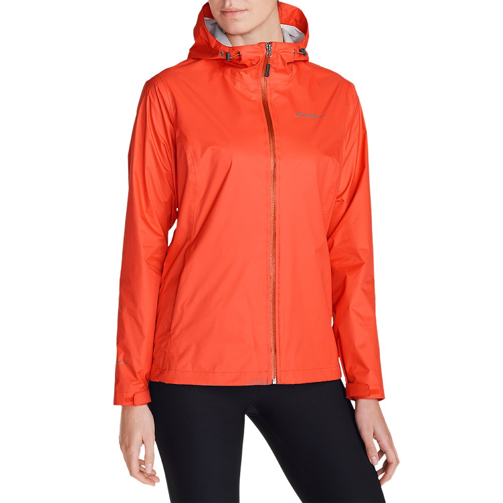 Eddie Bauer Women's Cloud Cap Lightweight Rain Jacket, Tiger Lily Regular L