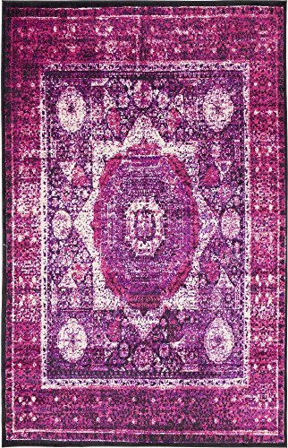 - Unique Loom Imperial Collection Modern Traditional Vintage Distressed Lilac Area Rug (5' 0 x 8' 0)