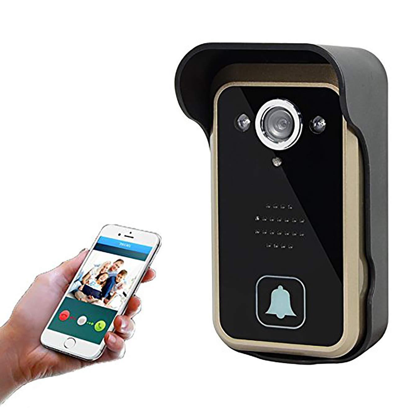 LHKAVE Wireless Intelligente Türklingel 720P HD Smart-Heimvideo-Cam Zwei-Wege-Nachtsicht 120 ° Weitwinkel-Bewegungserkennung