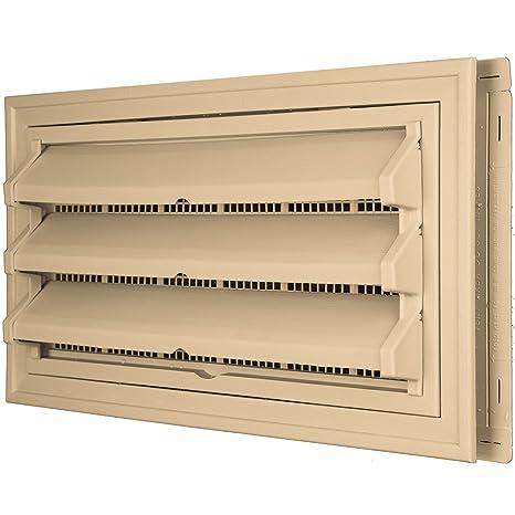 Constructores borde 140036410045 Fundación Kit de ventilación – Anillo Embellecedor y persiana fija Opción (moldeado