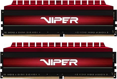 Patriot 16GB Kit (2 X 8GB) 3400 MHz (PC4-27200) Viper 4 Series DDR4 2400 MT/s DRAM (PV416G340C6K)