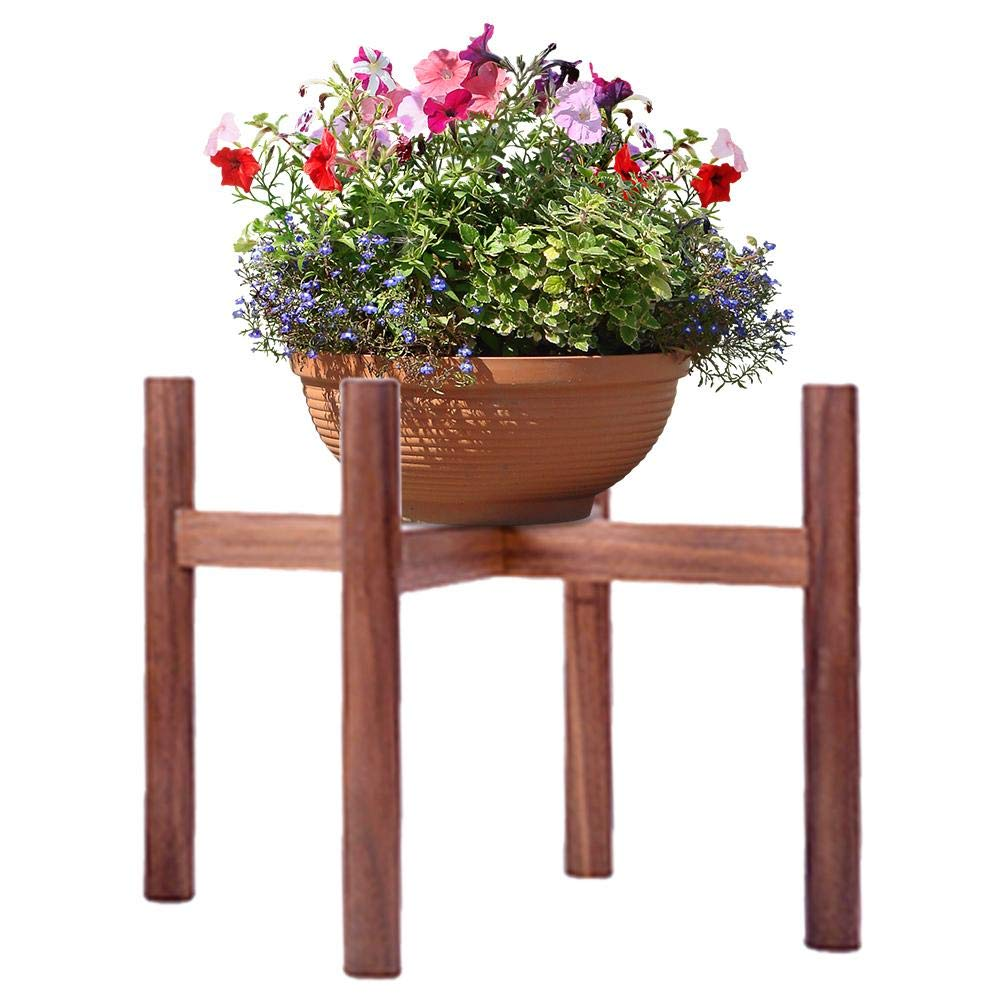 225 & Househome Wooden Plant Stand Indoor/Outdoor Flower Pot StandsModern Flower Pot Holder Display Potted Rack for House Garden Patio (Planter Not ...