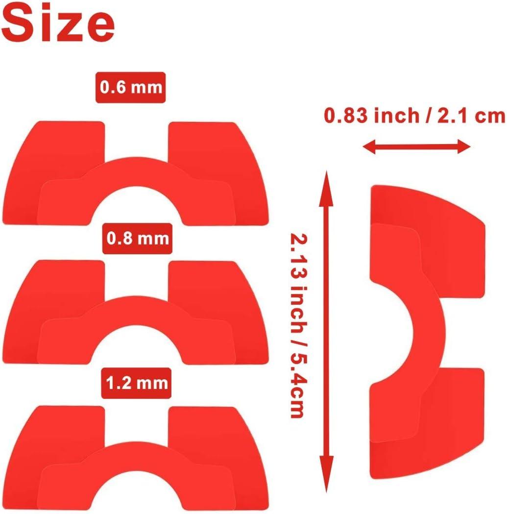 Tinke Accessorio di Ricambio per Scooter Include Staffa per parafango per Scooter e smorzatore di Vibrazioni in Gomma 3 per Scooter Xiaomi M365 M365 PRO Rosso