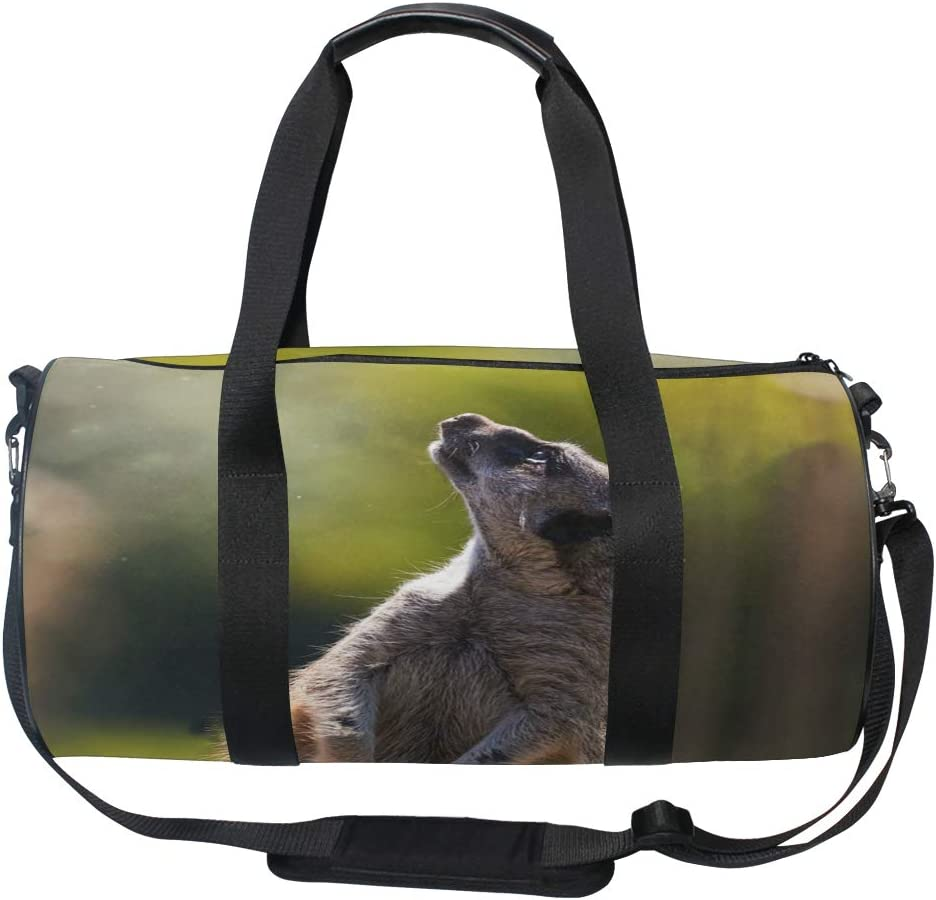Duffel Bag The Incredible Meerkat Looking Fairy Dust Women Garment Gym Tote Bag Best Sports Bag for Boys