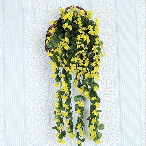 Meitan-Artificial-Violet-Hanging-Flower-Silk-Violet-Flower-Garland-Hanging-Basket-Decorative-Plant-Home-Outdoor-Wedding-Arch-Garden-Wall-Dcor-2-pcs-Yellow