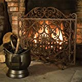 Exclusive Footed Cast Iron Fire Screen - A Beautiful Focal Point Of Any Room by Dibor - French Style Accessories for the Home