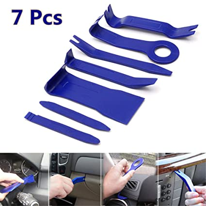 7Pcs Car Radio Audio Stereo Door Trim Dash Panel Install Removal Open Pry Tool Kit