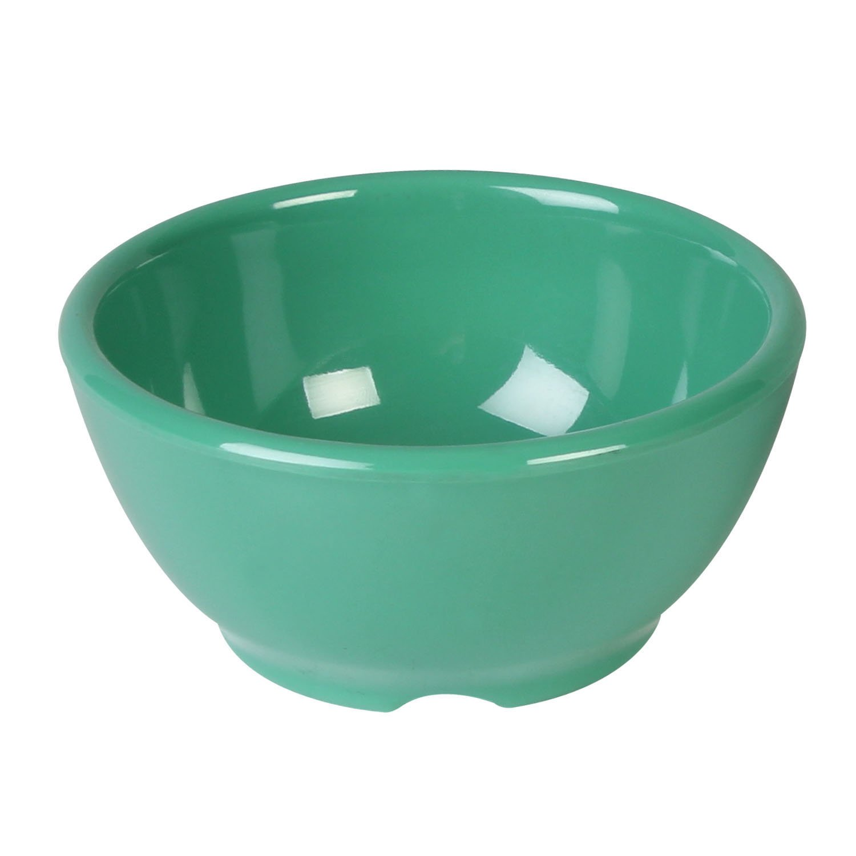 Excellant/é Green Melamine Collection 4.675-Inch Soup Bowl 10Ounce 12-Piece CR5804GR Green