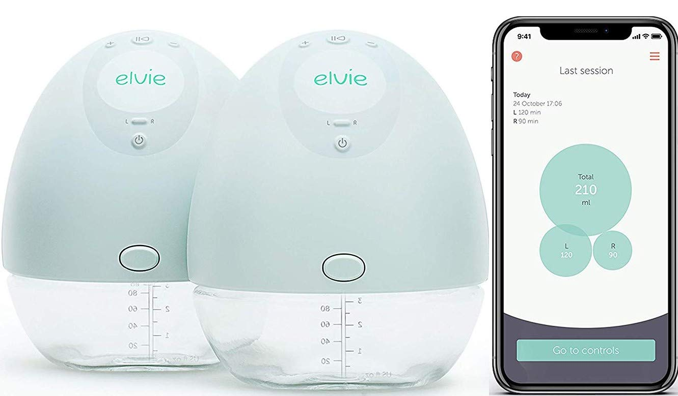 Amazon Com Elvie Pump Double Silent Wearable Breast Pump With App Electric Hands Free Portable Breast That Can Be Worn In Bra Baby