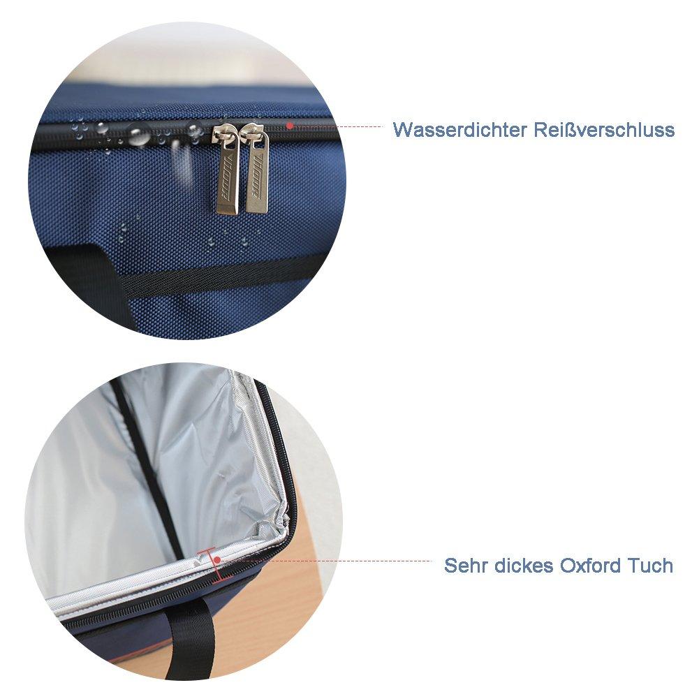 37L Fee-lice K/ühltasche K/ühlbox Wasserdichte Lunch Tasche Isolierte Thermo Picknicktasche f/ür Lebensmitteltransport Camping Isoliertasche K/ühlkorb Thermotasche Campingtasche Isolierbox