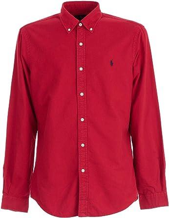 Ralph Lauren Polo Camicia UOMO Pioneer Red: Amazon.es: Ropa y ...